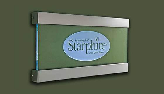 Signage - Starphire Ultra-Clear Glass